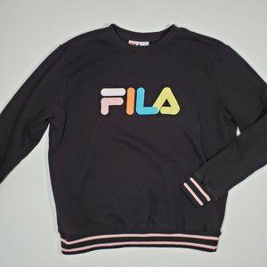 FILA Spellout Logo Neon Sweatshirt Embroidered XL